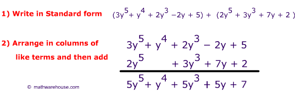 How To Add Polynomials And Subtract Polynomials Examples Practice