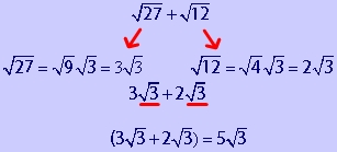 math worksheet : how to add square roots together examples formula and practice  : Adding And Subtracting Square Roots Worksheet
