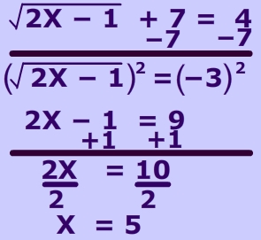 picture of solve radical equations