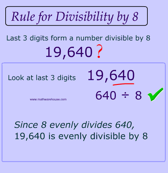 Divisibility Rules How to test if a number is divisible by 234 – Divisibility Rules Worksheet