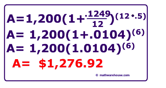 calculate compound interest  formula with examples and