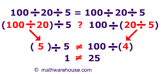 Associative Property of Division