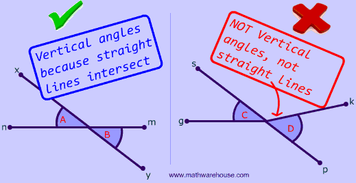 Vertical Angles: Definition, illustrated examples, and an interactive ...