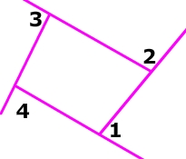 picture ofexterior angles of quadrilateral