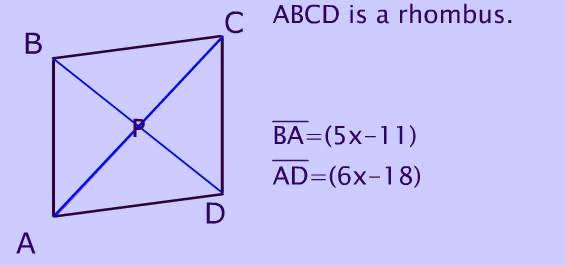 Rhombus Its Properties Shape Diagonals Sides and Area Formula – Area of Rhombus Worksheet