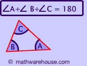 Interior Angles of Triangle Formula