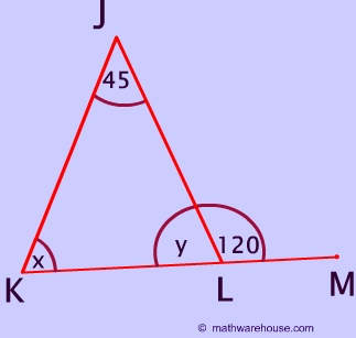 Remote exterior and interior angles of a triangle for Exterior angles of a triangle calculator