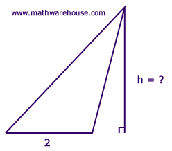 Find height of triangle given area step by step tutorial with find the height of this triangle ccuart Choice Image