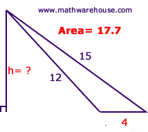 Find height of triangle given area step by step tutorial with picture of triangle with height ccuart Choice Image