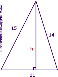 Find Height Of Triangle Given Area Step By Step Tutorial With
