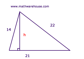 Find height of triangle given area step by step tutorial with find the height of this triangle ccuart Image collections