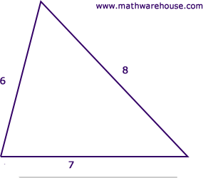 how to find type of triangle with side lengths
