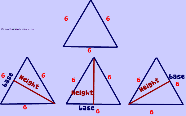 Find height of triangle given area step by step tutorial with equilateral triangle base ccuart Gallery