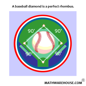 rhombus as baseball diamond