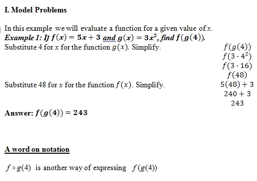 Composition of Functions of worksheet (pdf) and Answer Key. 25 ...