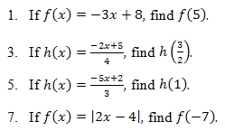 Evaluating Functions Worksheet and Answer Key. Free pdf on applying ...