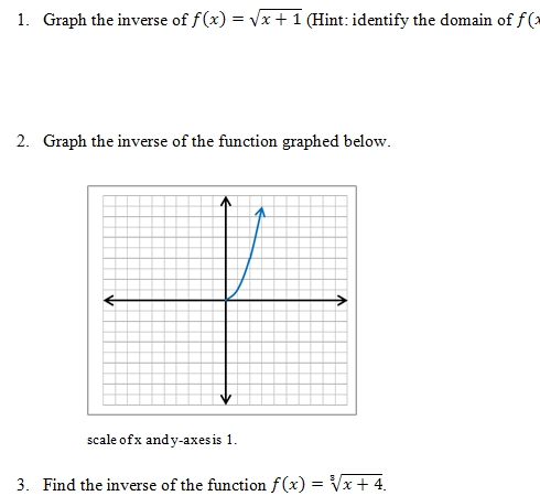 Inverse Functions Worksheet And Answer Key Free 25 Question Pdf On