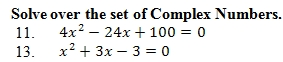 Completing the Square Worksheet (pdf) with Answer Key. 25 ...