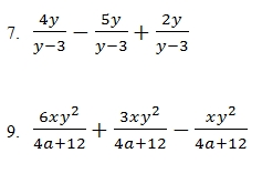 Adding and Subtracting Rational Expressions Worksheet (pdf) with ...