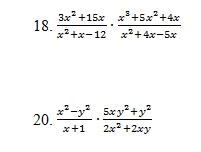 Multiplying Rational Expressions Worksheet (pdf) with Answer Key. 22 ...