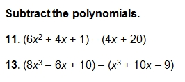 Printables Adding Polynomials Worksheet adding and subtracting polynomials worksheet pdf with key d