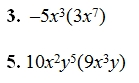 Multiplying and Dividing Monomials Worksheet and Answer Key