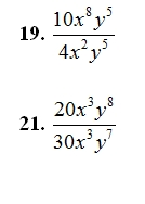 Multiplying and Dividing Monimials Worksheet (pdf) and Answer Key ...