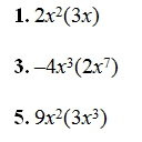 Multiplying Monimials Worksheet (pdf) and Answer Key. Over 25 ...
