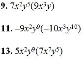 ... poly mult monomials adding monomials 2 multiplying monomials