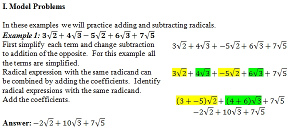 Adding Radicals Worksheet pdf and Answer Key 25 scaffolded – Adding Radicals Worksheet