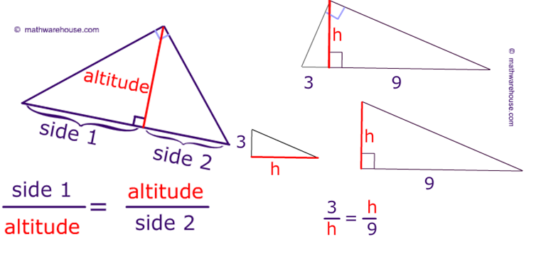 Right Similar Triangles Worksheet And Answer Key