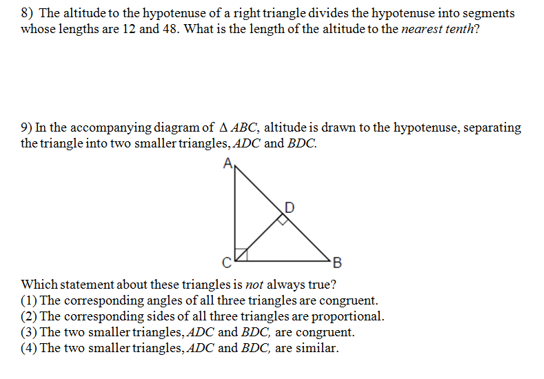 Measurement Worksheets moreover Similar Right Triangles Worksheets ...