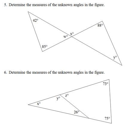 Triangle Interior Angles Worksheet(pdf) and Answer Key. Scaffolded ...
