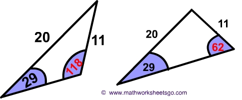Ambiguous Case Of Law Of Sines Worksheet Pdf With Answer Key