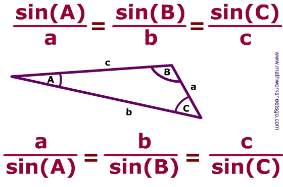 Law Of Sines Worksheet Pdf With Answer Key And Model Problems