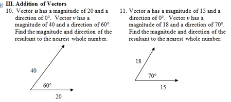 Vector Worksheet (pdf) with key. Focuses on resultant vectors. 25 ...