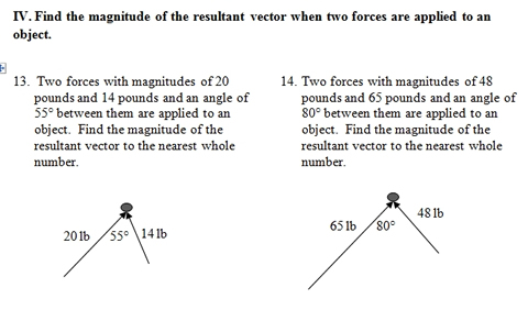 Vectors Workshet With Answers 06 - Vectors Workshet With Answers