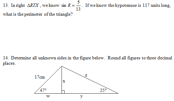 Sine, Cosine, Tangent Cumulative (pdf) and Answer Key. Questions on ...