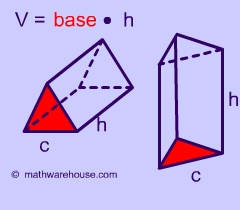 formula volume of triangular prism explained with pictures and