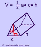 Gallery For > Volume Formula For A Triangular Pyramid