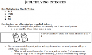 Multiplying Integers Bag Image