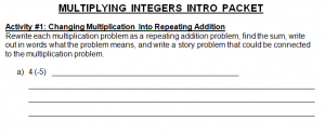 Multiplying Integers Intro Image