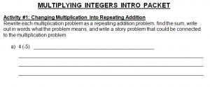 Multiplying Integers Intro Image