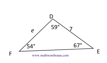 Law of Sines formula, how and when to use , examples and