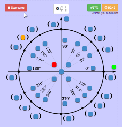 unit circle game interactive quiz on unit circle radians degrees